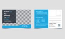 Real Estate Postcard Design Vector Template, Business Postcard Layout, Modern Postcard Design, And Business Template