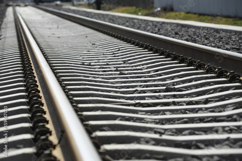 Fotomural track system on concrete sleepers