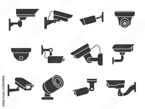 Valokuvatapetti Cctv icons
