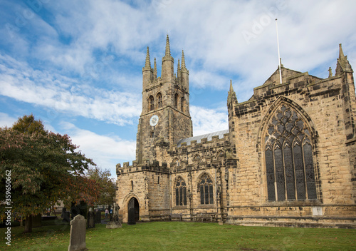Obraz na plátne Tideswell, Derbyshire, UK: October 2018: Saintt John the Baptist Church