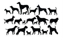 Set Of Diverse Dog Icons