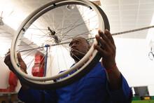 African American Worker Inspec...