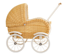 Vintage Baby Buggy Isolated On White