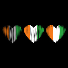 Cote D'ivoire Flag Heart Love ...