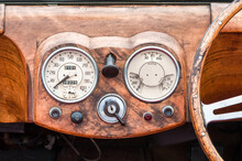 Wooden Dashboard And Steering ...