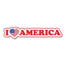 USA Flag. Heart With Flag Of USA .  I Love America