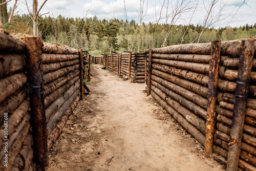 Fotografie, Obraz trenches used in World War II on occupied battle lines, consisting mainly of trenches, in which troops were significantly protected from enemy fire and artillery