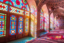 Famous Pink Mosque Decorated W...