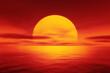Leinwandbild Motiv red sunset over the ocean
