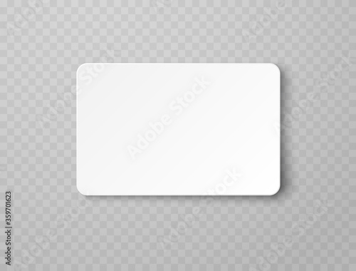 Fotografía Plastic or paper white business card isolated on transparent background