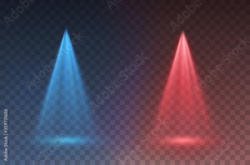 Obraz na plátně Light scanner or laser effect