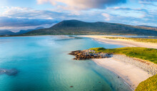 Beautiful Luskentyre Beach From Seilebost On The Isle Of Harris