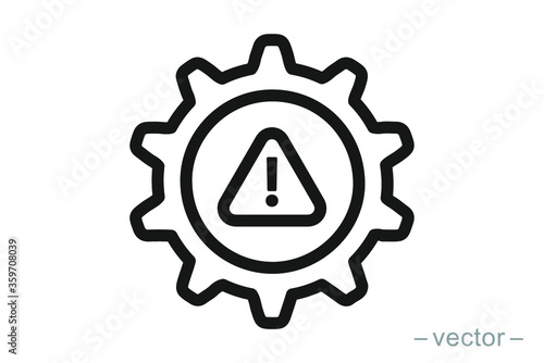 System error icon vector, system not working sign Fototapet