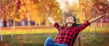Happy Woman Enjoying Life In T...