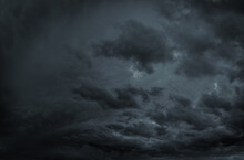 Dark Cloudy Sky Filled With Mo...
