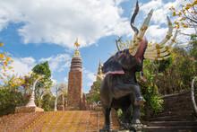 Huge Elephant Statue And  Budd...