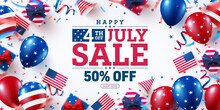 4 Th Of July Sale Poster.USA I...
