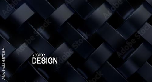 Fotografie, Obraz Black weave pattern
