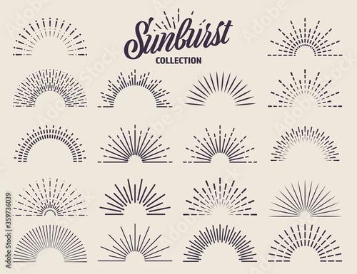 Vintage sunburst collection Fotobehang