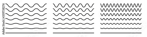 Fotomural Wave line and wavy zigzag pattern lines