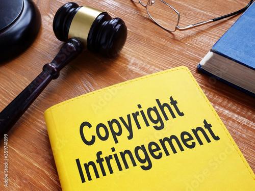 Cuadros en Lienzo Copyright Infringement is shown on the conceptual business photo