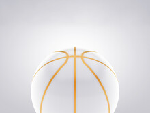 White And Gold Ball On Basketb...