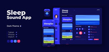 Sleep Music App Screen Vector ...