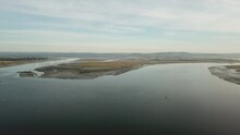 Chichester Channel And Thorney Channel Aerial Ascent From East Head West Wittering - Chichester Harbour