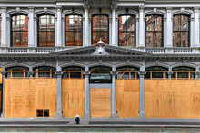Boarded Up Stores - New York C...