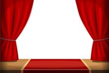 Old-fashioned Theatre Scene Wi...