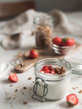 Kefir Or Yogurt Served Granola...