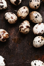 Quail Eggs With Negative Space