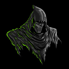 Vector Illustration Of Dark Gr...