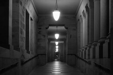 Empty Corridor At Stanford Uni...
