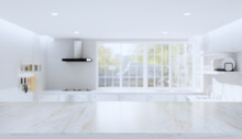 3d Rendering Of Marble Counter...