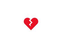 Broken Heart Vector Flat Icon....