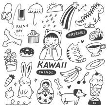 Set Of Cute Things Doodles