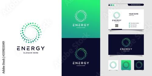 Carta da parati Modern energy logo and business card design