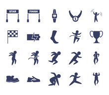 Running Silhouette Style Icon ...