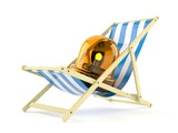 Emergency siren on deck chair
