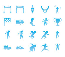 Running Gradient Style Icon Se...
