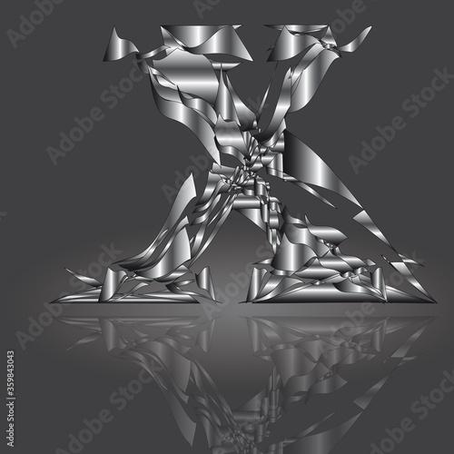 Polygonbuchstabe X6 Tablou Canvas