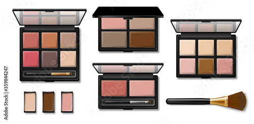 Obraz na plátne Set of Eyeshadow palette for makeup