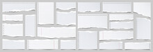 White Ripped Lined Paper Strip...