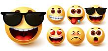 Emoji Smiley Vector Set. Cute ...