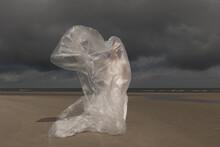 Girl In White Dress Standing O...