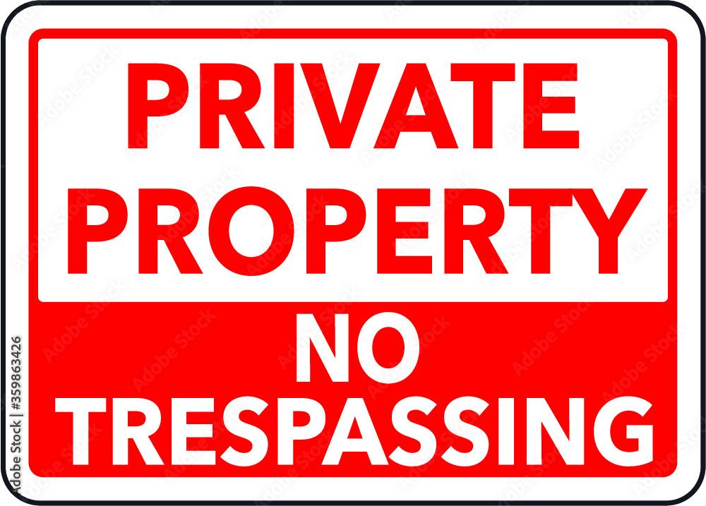 Fototapeta Private property sign