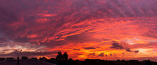 Pano Of The Amazing Sunset Or ...