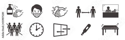 Photo washing hands mask illustration vector