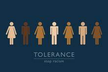 Stop Racism Tolerance Concept ...